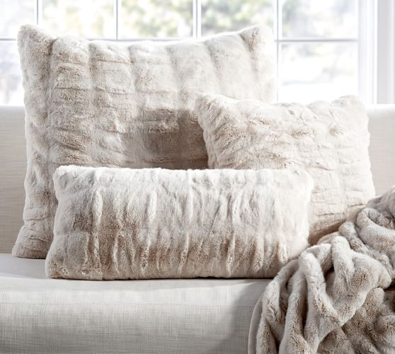 Faux Fur Throw And Pillow Set Home Ideas